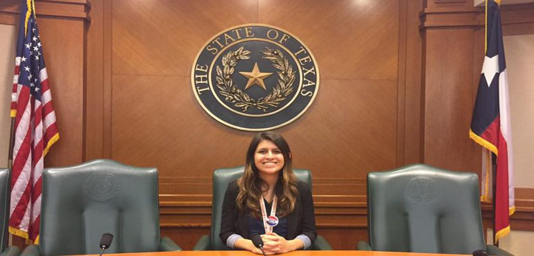 Alexis Kulick at Texas state capital