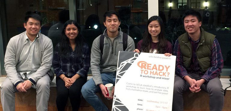Five UCLA students who are organizing the 2017 DataFest