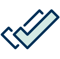 Illustration of two blue check marks
