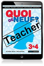 Quoi de Neuf ? 3+4 Teacher eBook and Audio Download (Access Card)
