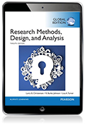 Research Methods, Design and Analysis, Global Edition eBook