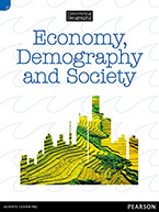 Discovering Geography (Upper Primary Nonfiction Topic Book): Economy, Demography and Society (Reading Level 30/F&P Level U)