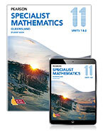 Pearson Specialist Mathematics Queensland 11 Student Book with Reader+