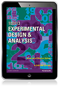Experimental Design & Analysis 100013 (Custom Edition eBook)