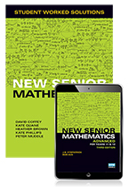 New Senior Mathematics Advanced Year 11 & 12 Student Worked Solutions Book with eBook