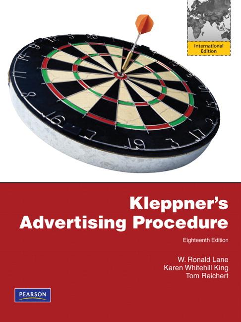 Kleppners advertising procedure international edition 18th pearson 9780132465519 9780132465519 kleppners advertising procedure international edition fandeluxe Choice Image