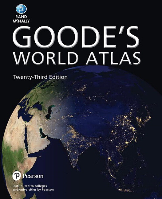 Goodes world atlas 23th rand mcnally buy online at pearson pearson 9780133864649 9780133864649 goodes world atlas gumiabroncs Image collections