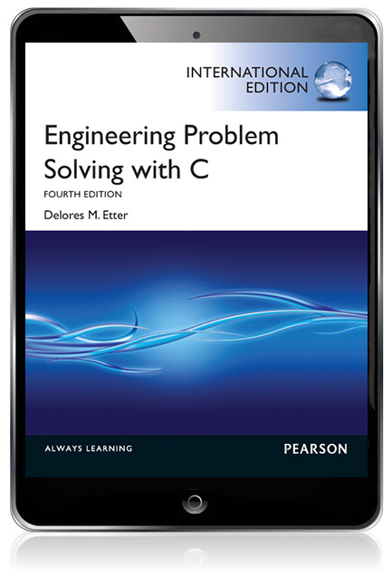 engineering problem solving with c delores m etter
