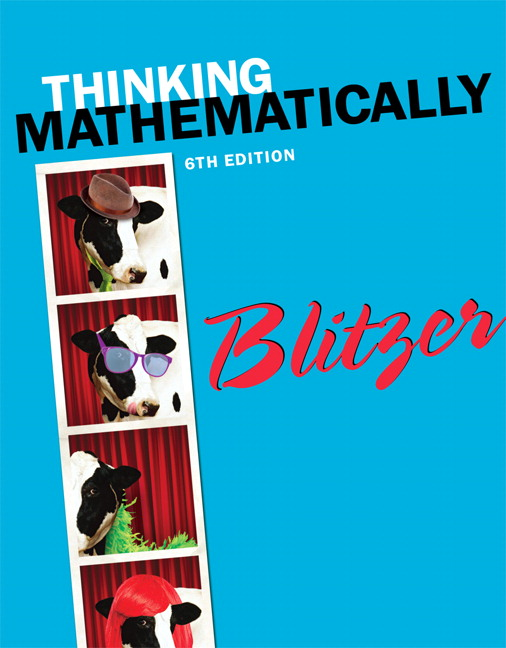 Thinking mathematically 6th blitzer buy online at pearson for courses in liberal arts mathematics in thinking mathematically sixth edition fandeluxe Gallery
