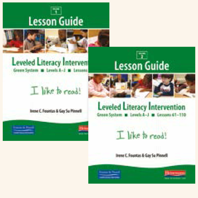 Fountas Pinnell Leveled Literacy Intervention Green System Grade 1 Lesson Guides