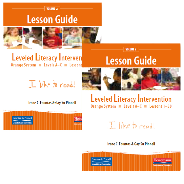 Fountas Pinnell Leveled Literacy Intervention Orange System Grade K Lesson Guides