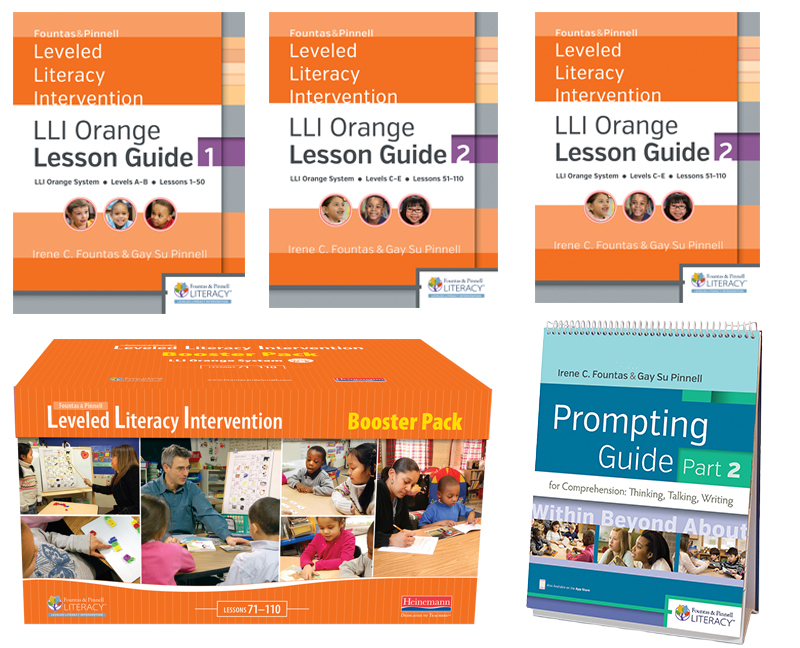 Fountas Pinnell Leveled Literacy Intervention LLI Orange System Teacher Resources With Booster Pack