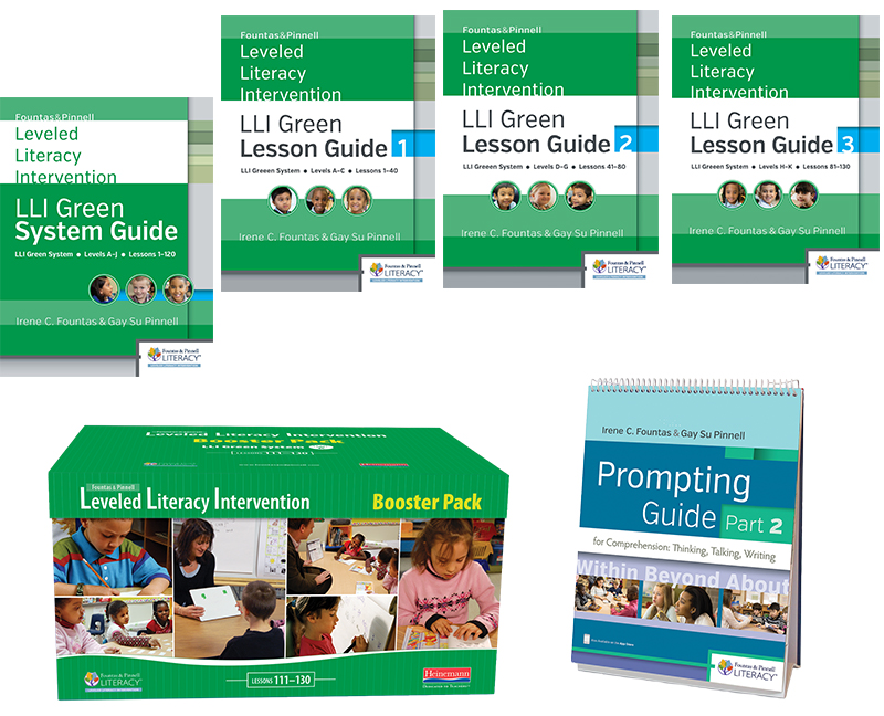 Fountas Pinnell Leveled Literacy Intervention LLI Green System Teacher Resources With Booster Pack