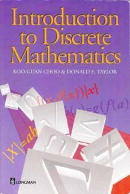 Introduction to discrete mathematics 1st taylor donald choo introduction to discrete mathematics 1st taylor donald choo koo guan buy online at pearson fandeluxe Image collections