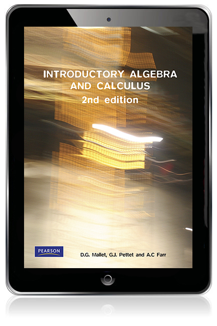 Introductory Algebra and Calculus (Pearson Original Edition eBook) - Image