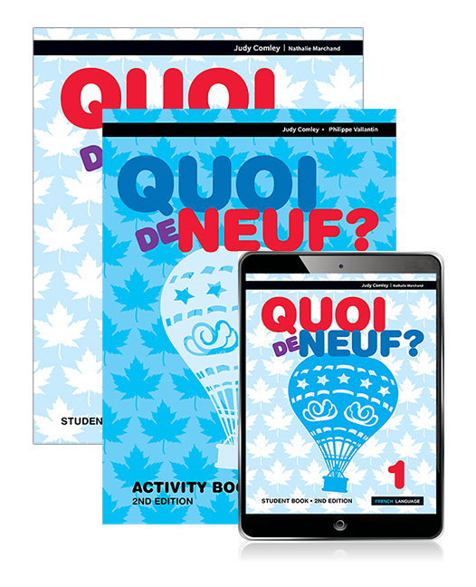 Quoi de neuf ? 1 Student Book, eBook and Activity Book, 2nd Edition