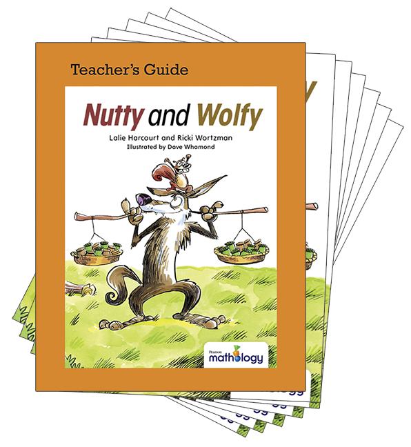 Mathology Little Books - Patterns and Algebra: Nutty and Wolfy (6 Pack with Teacher's Guide)