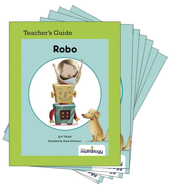 Mathology Little Books - Geometry: Robo (6 Pack with Teacher's Guide)