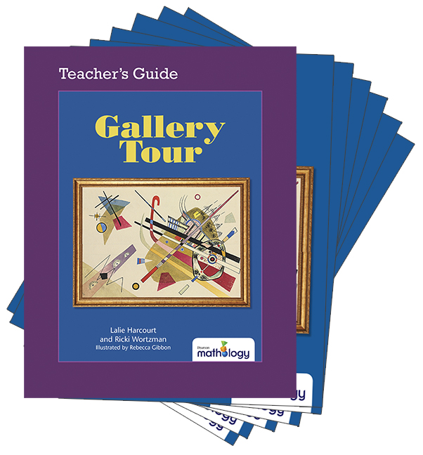 Mathology Little Books - Geometry: Gallery Tour (6 Pack with Teacher's Guide)