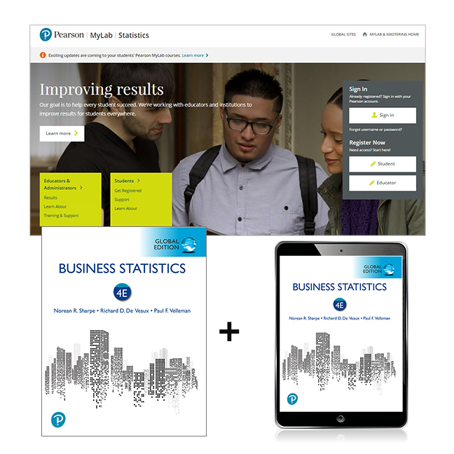 Business Statistics, Global Edition + MyLab Statistics with eText, 4th Edition