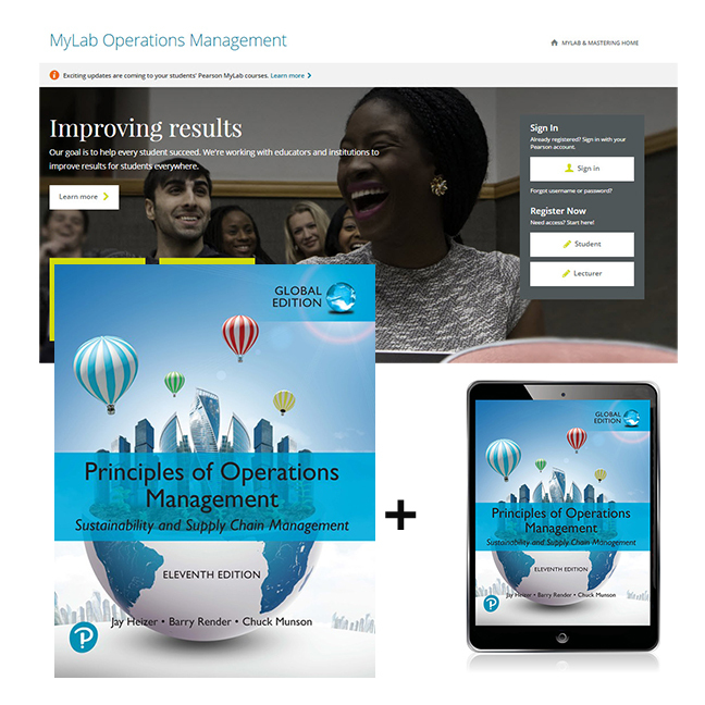 Principles of Operations Management, Global Edition + MyLab Operations Management with eText, 11th Edition
