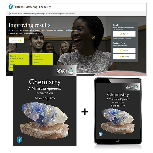 Chemistry: A Molecular Approach, Global Edition + Mastering Chemistry with eText, 5th Edition