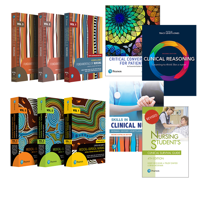 Kozier and Erb's Fundamentals of Nursing, Volumes 1-3 + LeMone and Burke's Medical-Surgical Nursing + Skills in Clinical Nursing + Clinical Reasoning + Critical Conversations for Patient Safety + Nursing Student's Clinical Survival Guide, 5th Edition