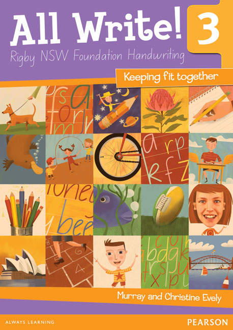All Write! 3 Rigby NSW Foundation Handwriting: Keeping Fit Together - Image