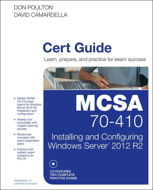 Mcsa 70 410 cert guide r2 installing and configuring windows server pearson 9780789748805 9780789748805 mcsa 70 410 cert guide r2 installing and configuring windows server 2012 fandeluxe Choice Image