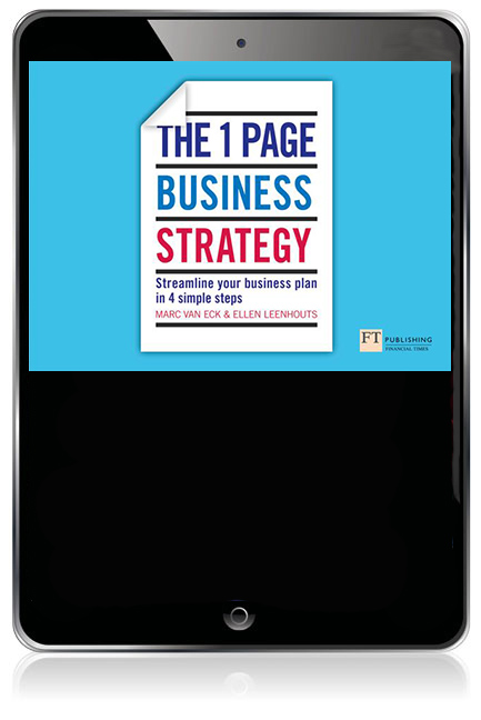 The One Page Business Strategy ePub eBook: Streamline Your ...