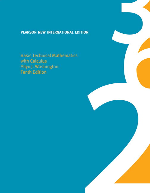 Basic technical mathematics with calculus pearson new international pearson 9781292022123 9781292022123 basic technical mathematics with calculus pearson new international edition fandeluxe Gallery