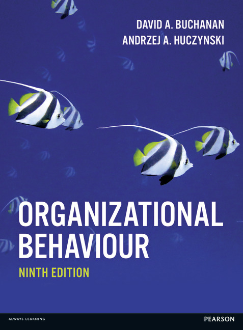 huczynski and buchanan organisation (huczynski & buchanan: 297)  using reward and recognition polices within the organisation to influences positive behaviours and adopt  cipd – 5dpp how about.