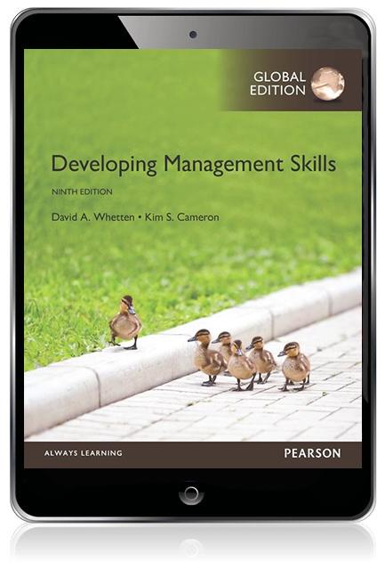 Developing management skills, global edition david a whetten.
