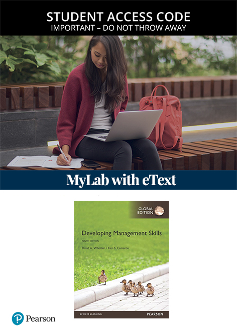 Developing Management Skills, Global Edition MyLab Management with eText (Access Card)
