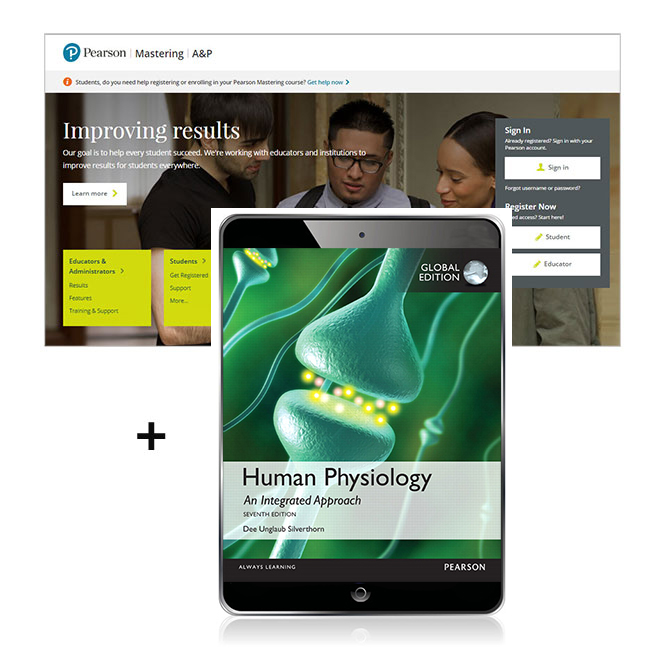 Human physiology an integrated approach global edition mastering mastering ap is an online homework tutorial and assessment product designed to improve results by helping students quickly master concepts fandeluxe Image collections