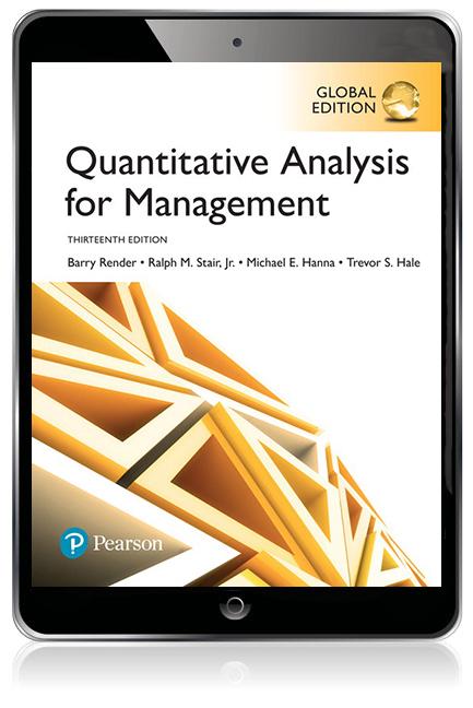 Quantitative Analysis for Management, Global Edition eBook - Image