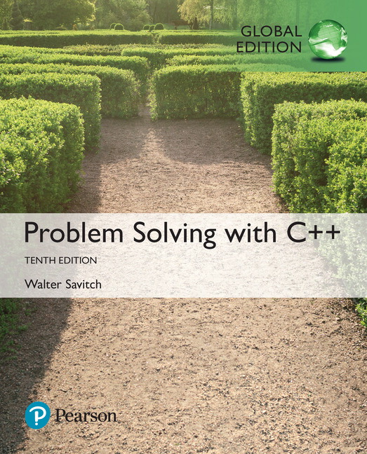 Problem solving with c global edition 10th savitch walter pearson 9781292222820 9781292222820 problem solving with c global edition for courses in c introductory programming fandeluxe Choice Image