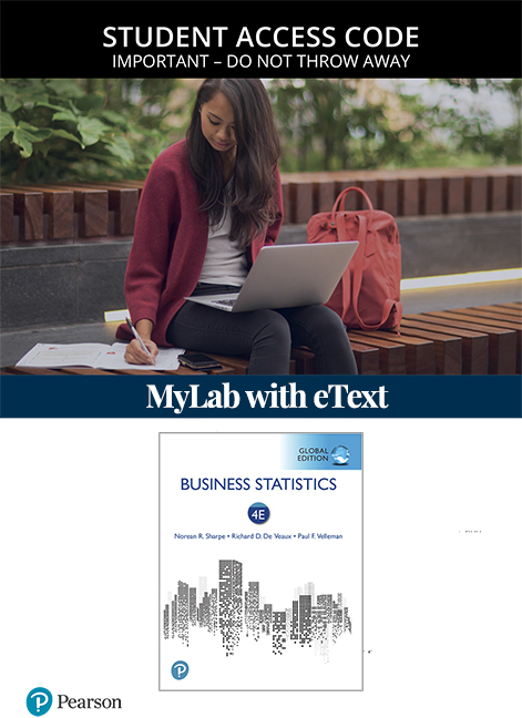 Business Statistics, Global Edition MyLab Statistics with eText (Access Card)
