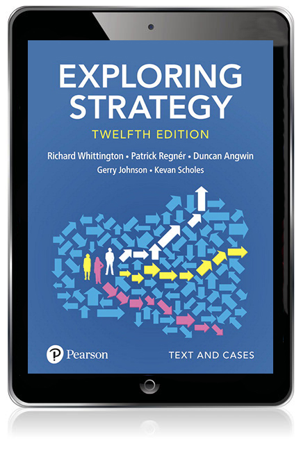 Exploring Strategy, Text and Cases eBook - Image