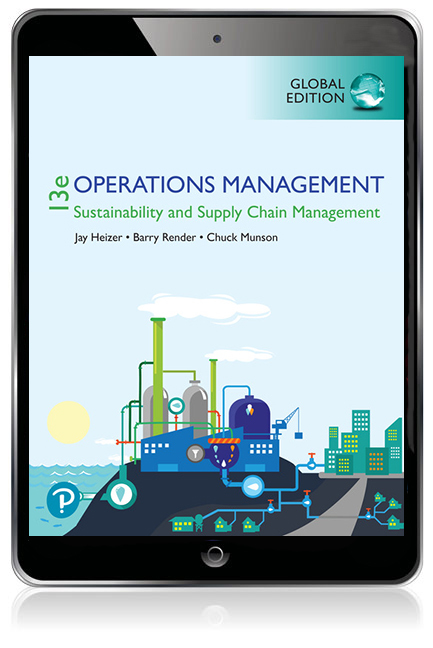 Operations Management: Sustainability and Supply Chain Management, Global Edition Pearson eText - Image