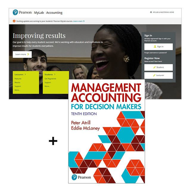 Management Accounting for Decision Makers with MyLab Accounting - Image