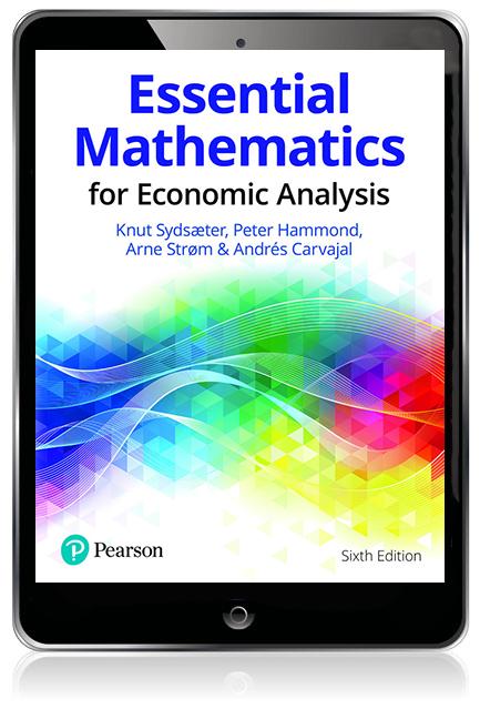 Essential Mathematics for Economic Analysis eBook - Image