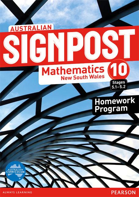 Australian Signpost Mathematics New South Wales 10 (5.1-5.2) Homework Program