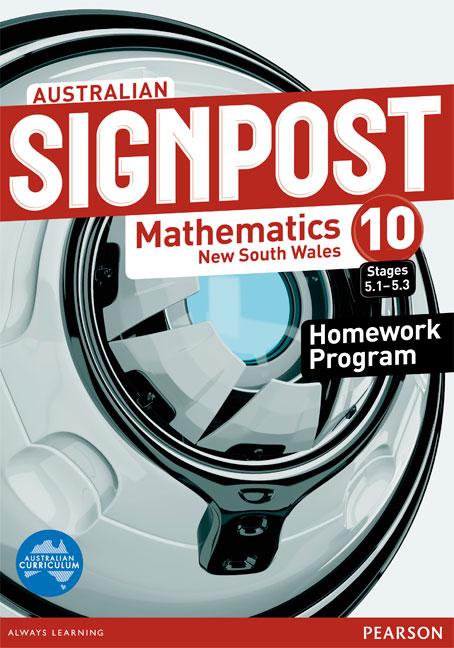 Australian Signpost Mathematics New South Wales 10 (5.1-5.3) Homework Program - Image