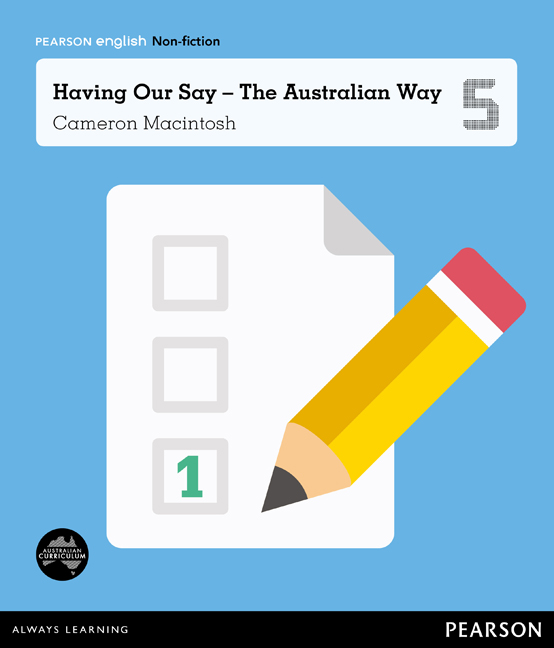 Pearson English Year 5: Let's Vote! - Having Our Say The Australian Way (Reading Level 29-30+/F&P Level T-V) - Image