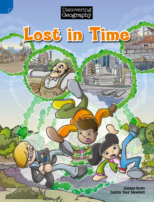 Discovering Geography (Upper Primary Comic Topic Book): Lost in Time (Reading Level 29/F&P Level T) - Image