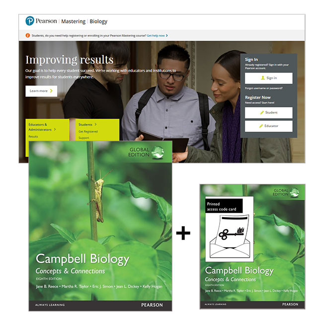 Value pack campbell biology concepts and connections global edition pearson 9781486025459 9781486025459 value pack campbell biology concepts and connections global edition mastering biology with etext fandeluxe Images