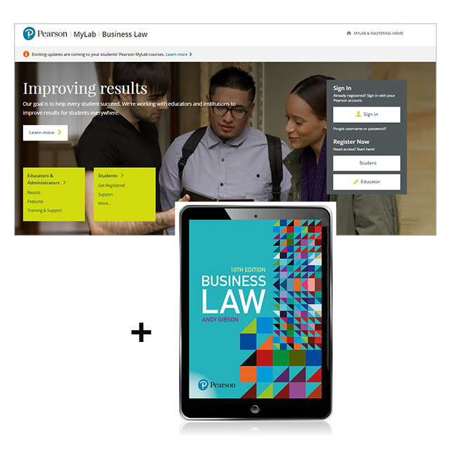 Business Law MyLab Business Law with eText - Image