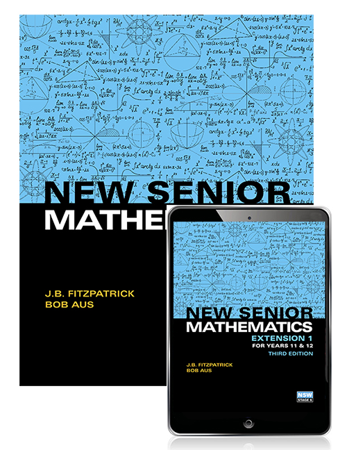 New Senior Mathematics Extension 1 Years 11 12 Student Book With EBook