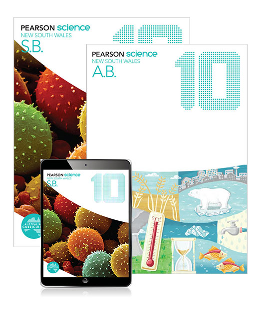 Pearson Science New South Wales 10 Student Book, eBook and Activity Book